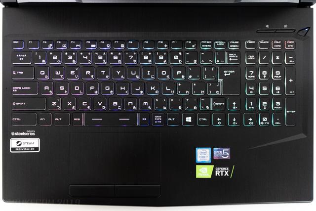 GCR2070RGFのキーボード
