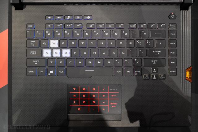 日本語配列のキーボード