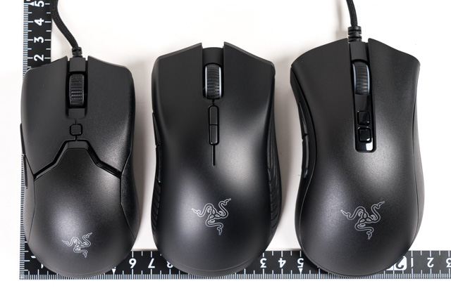 Razerのマウスと比較