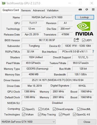 GPU-Zの結果