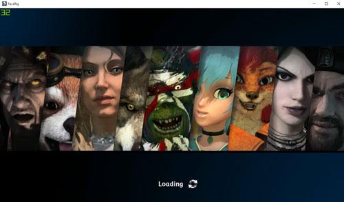 FaceRigのロード画面