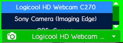 Webカメラの選択
