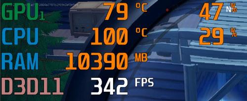フォートナイトのCPU温度