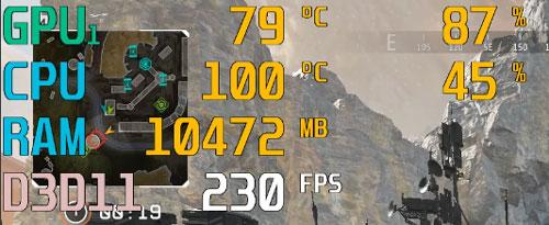 Apex LegendsのCPU温度